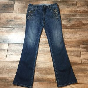 WHBM - NWOT! Embellished Bootcut Jeans (10L)